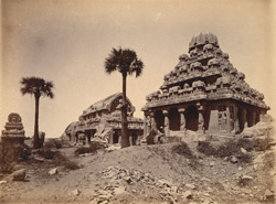 General view of the Pancha Rathas, Mamallapuram